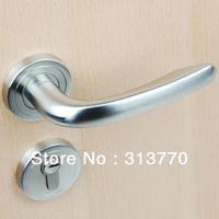 85mm Free shipping  2pcs handles with lock body+keys 304 stainless steel lock door lock bedroom lock