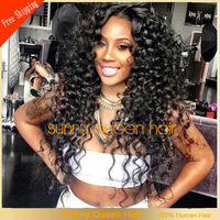 2013 New style natural hairline afro kinky curly glueless lace front wig&mongolian kinky curly lace wig free shipping