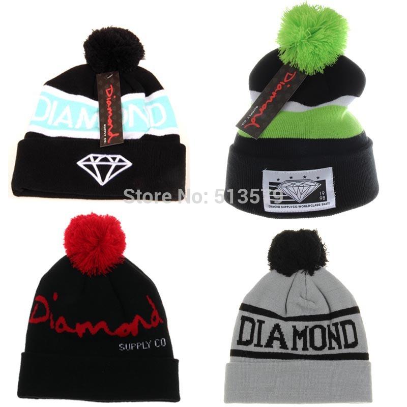 Toucas Diamond Beanie Sport Cap Men Hat Beanie Knitted Winter Hats For Women Fashion Caps Bonnets(China (Mainland))