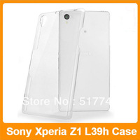 Hybrid Plastic Crystal Hard Back Cover Clear Case for Sony Xperia Z1 L39h Free Shipping 10pcs/lot