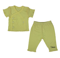 100% cotton newborn baby monk clothing short-sleeve underwear set basic top trousers
