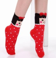 Free shipping 20/lot new fashion women girl Character  Breathable Warm Transparent cotton dot Short socks Specials Gifts