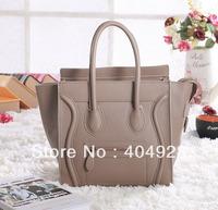 Light beige smooth original  snake leather bag mini nano Micro 3307  smile fashion women handbag top quality wholesale