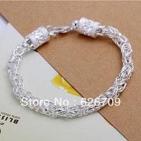 Factory price wholesale 925 solid Silver bracelet,women/men fashion charm Jewelry jewellry New Dragon chain Bracelet JH096