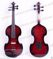 4/4 Violin Electric Nice Sound Silent Dark red & Black side Baroque Shape