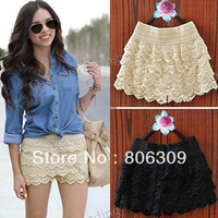 Fashion Womens Sweety Cute Crochet Tiered Lace Mini Skirt  355