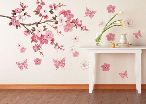 DIY Removable Sakura Flower Bedroom Vinyl Decal Art Decor Wall Sticker 45*60CM(China (Mainland))