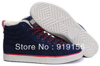 Free shipping new 2013 Man's winter sneaker edison pirates plush Skateboard shoes Brand leisure high outdoor boots