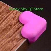 New Love Heart Prevent Collision Angle/Sponge Protector (4 installed) Desktop Crash Protection~4 pcs/pack,2 packs/lot