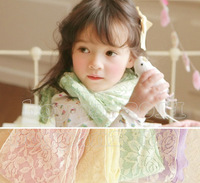 Free Shipping New Kids Toddlers Girls Lovely Cotton Lace Scarves Shawls/Wrap 4 Color Choose