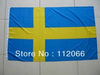 Free shipping Sweden Flag with MOQ at one piece UAE National Flag polyester material in size 90cm x 150cm