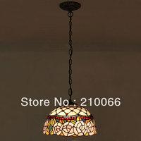 Tiffany Pendant Lamp European Pastoral Style Roses Lamp Mission Hanging Pendant Ceiling Fixture 2pcs/lot Free Shipping