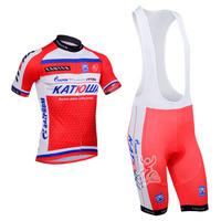 2014 katusha Team cycling jersey/ cycling clothing/ cycling wear+shorts bib suit-katusha-1A Free Shipping