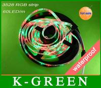 hot sales 3528 rgb led strip light best quality 3528 300LEDs/Roll DC12V waterproof flexible led strip light