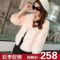 Fur coat 2013 fur short coat design fur rex rabbit hair