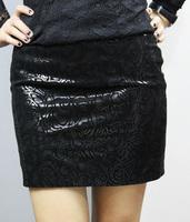 Elegant fashion women's 2013 genuine leather skirt formal skirt bust pigskin short culottes