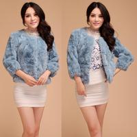 Women's top fur coat short design female 2013 rex rabbit hair autumn and winter