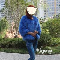 Fur coat women's autumn and winter thickening super raccoon fur wool 9 quarter sleeve outerwear medium-long women's