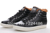 Free shipping! New 2013 fashion men's casual leather shoes and wool Pirate Black / Brown / Red .40-44