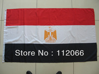 Free shipping Egypt Flag with MOQ at one piece Egypt National Flag polyester material in size 90cm x 150cm