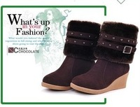 2013 New Autumn And Winter Snow Women Motorcycle Boots+ High-Heeled Boots Nubuck Leather Shoes two Wearing Style Designer