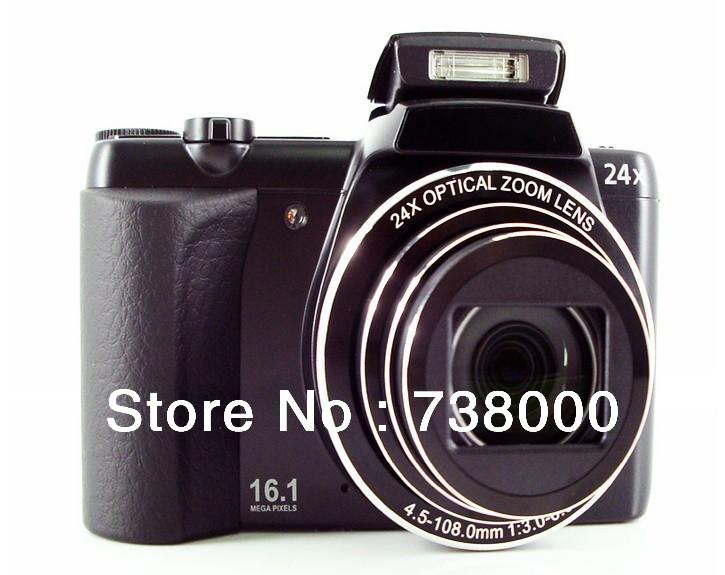 "2013 Newest 16 Mega Pixels CCD Sensor Micro SLR Digital Camera DC-24 with 24X Optical Zoom 3"" Display,With Russian language(China (Mainland))"