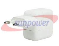 50PCS/LOT, 10W USB Power Adapter 5.1V 2.1A 5V 2A Wall Charger for iPad 3/2/1 Mini ,  Free sipping by DHL/UPS/FEDEX