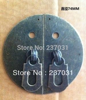 Antique clasp buckles/furniture/cupboard door handle to open the door button box/tin trunk/annatto furniture round buckle 7.4