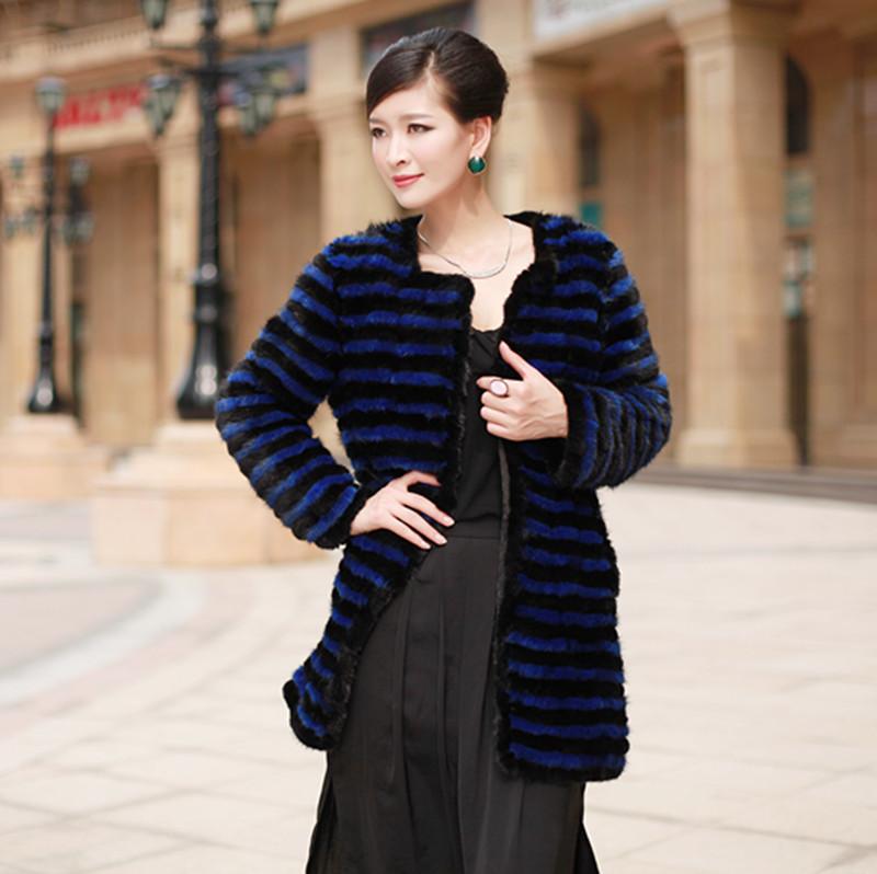 2013 mink knitted fur coat long fur design(China (Mainland))