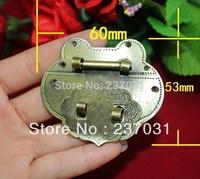 60 * 53 mm peach type box buckle/green bronze/jewelry box lock/can match the lock/high-grade buckles restoring ancient ways