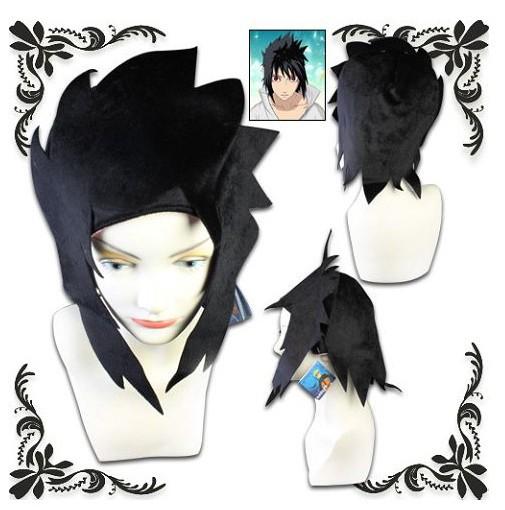 Cool Naruto plush hat black warm cosplay cap Uchiha Sasuke hair ...