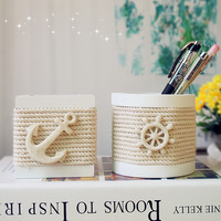 Fashion home decoration wooden hand-woven cotton rope pen decoration pen 2