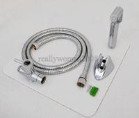 Brass Chrome Hand Held Bidet Sprayer + Brass T-adapter