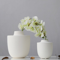 Modern brief white scrub line vase decoration quality white