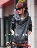 Free shipping winter lady short design women's  jacket outerwear lady warm hoody wadded jacket