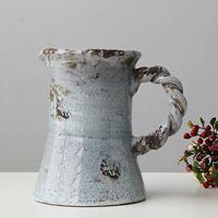 Modern chinese style american vintage porcelain decoration retro finishing with a handle big ceramic vase