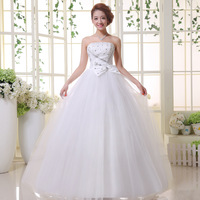2013 quality luxury rhinestone tube top bandage wedding dress bridal wedding qi h17