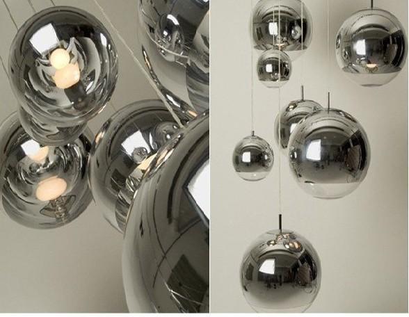 Moderne treppe lange beleuchtung lampen spiegelkugelchina mainland
