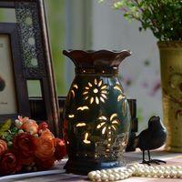 Ceramic vintage aromatherapy lamp plug in incense stove aromatherapy furnace aromatherapy incense burner incense burner