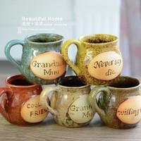 Zakka kiln ceramic mug milk cup brush glass cup coffee cup