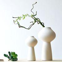 White thread decoration crafts modern brief ceramic decoration ceramic vase