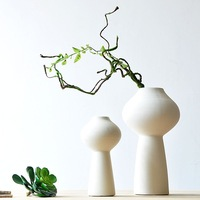 White thread decoration crafts modern brief ceramic decoration ceramic vase
