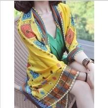 popular yellow silk scarf