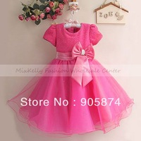 Fashion christmas party dress for infant kids, 2013 baby girl rose wedding dress,children tutu dresses girls princess 0-4 Years