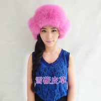 New Arrival Fashion women 100% genuine fox hair hat Russian Winter Cap warm winter cap free shipping!