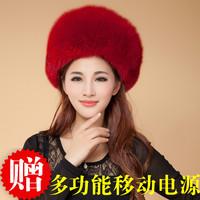 mongolian hat Free Shipping Fox fur elegant female winter ear protector cap women's genuine Russian Winter Cap