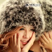 Free Shipping Fox fur hat female winter ear protector cap women's genuine Russian Winter Cap