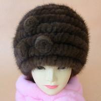 Women Genuine Rabbit Fur Hat Women Cap For Russian Wholesale Winter Women Fur hat Russian Winter Cap