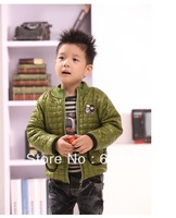Free Shipping Retail Cartoon Animal Cotton Children  Padded Boys' Warm Outerwear Girls' Winter Coat