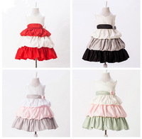 wholesale hot sell new novelty baby party dress princess dress bow girl dress free shipping  5pcs/lot YH05